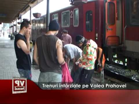 Trenuri întârziate pe Valea Prahovei