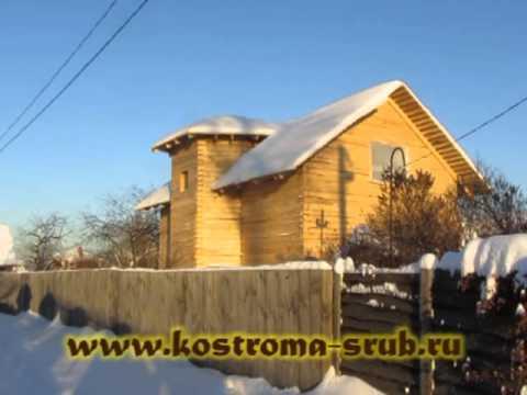 Двухэтажный дом из бруса для дачного участка