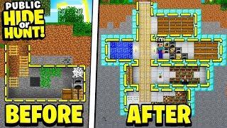 my SECRET Minecraft base got found by a FAN.. (Hide Or Hunt)