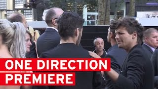 Louis Tomlinson looking very awkward with Perrie and Zayn at One Direction Premiere full download video download mp3 download music download
