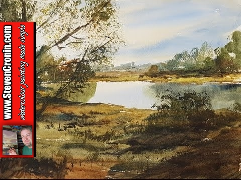 Sutton Park Watercolour Painting Demonstration:  I painted this watercolour landscape from a photograph I took last week during a stroll around Sutton Park near Streetly Gate.-~-~~-~~~-~~-~-Pledges on my Patreon page help me continue to make painting videos and keep it sustainable.  Watch new watercolour painting videos every week created exclusively for patrons-only athttp://www.patreon.com/StevenCroninThe paintings are for sale in my eBay shop athttp://stores.ebay.co.uk/original-paintings-by-steven-croninMy watercolour materials are for sale on Amazon atFabriano Watercolour Paper 50 pack of quarters (15x11in) 130lb (280gsm) NOT surface http://amzn.to/2lH8uwDPro Arte Ron Ranson Hake Brush - Large http://amzn.to/2k9daIUWinsor & Newton Cotman 21ml Water Colour TubesRaw Sienna http://amzn.to/2l9e0tEBurnt Umber http://amzn.to/2l9lE75Light Red http://amzn.to/2l9gqZgUltramarine http://amzn.to/2l4Q7UxLemon Yellow Hue http://amzn.to/2khD95YPayne's Gray http://amzn.to/2khvV26Alizarin Crimson Hue 003 http://amzn.to/2lz52qxYou can help me by using the following link for general shopping on Amazonhttp://amzn.to/2lyQAiaSubscribe now and never miss another videohttp://www.youtube.com/user/watercolourworkshop?sub_confirmation=1My other social media siteshttp://www.facebook.com/steven.cronin.watercolourshttp://www.twitter.com/#!/StevenCroninhttp://www.instagram.com/steven.cronin.art-~-~~-~~~-~~-~-