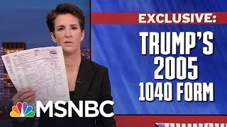 MSNBC's Rachel Maddow and David Cay Johnston discuss how Johnston obtained the summary pages of President Donald...