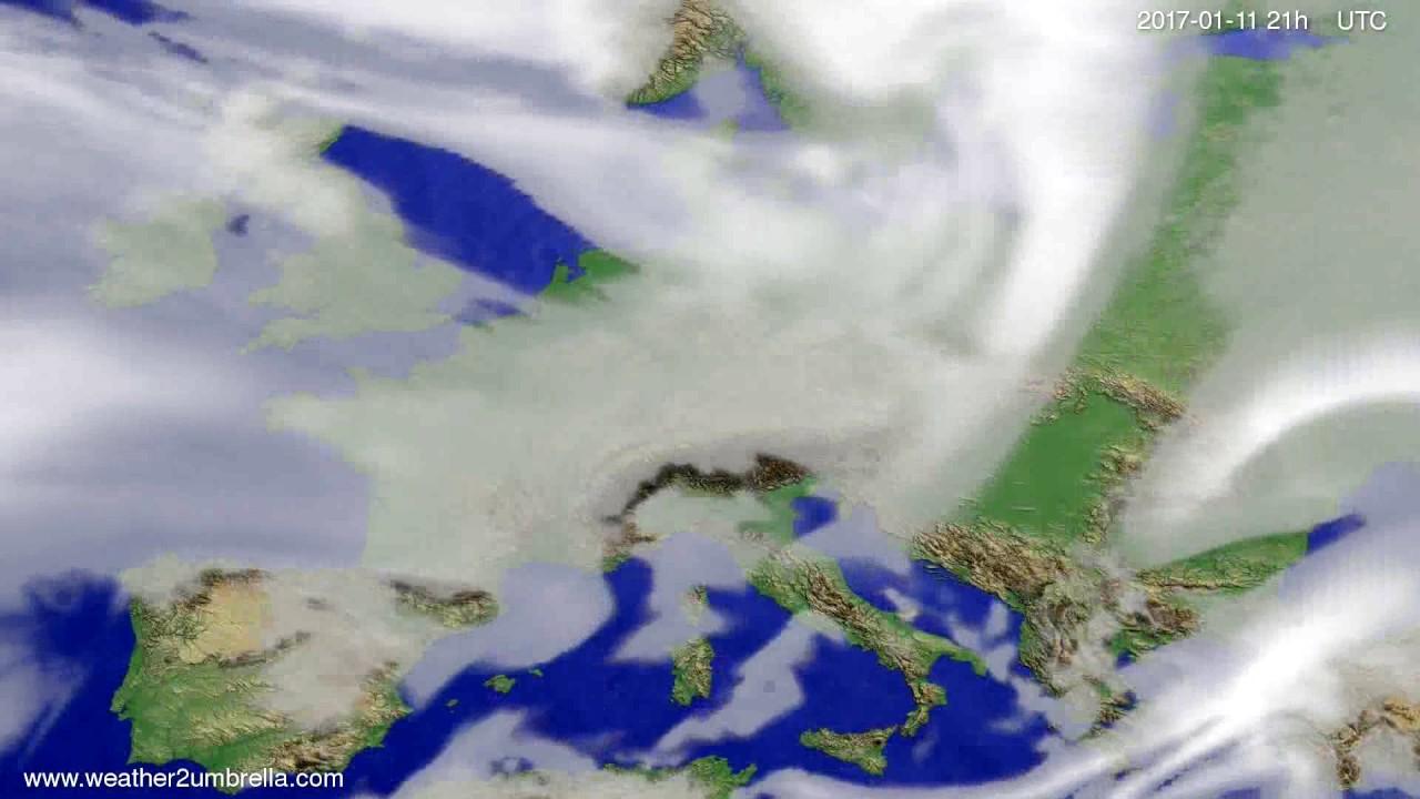Cloud forecast Europe 2017-01-08