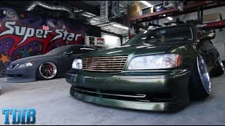 The Lowest Car I've Ever Seen?!-Exploring Superstar Customs by That Dude in Blue