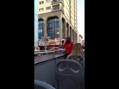 San Francisco - city sightseeing tourguide at her last working day