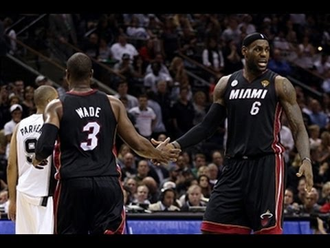 NBA - LeBron James, Dwyane Wade, and Chris Bosh combine to score 85 points to dominate the Spurs in Game 4. Visit nba.com/video for more highlights. About the NBA:...