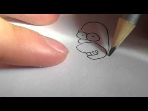 Homer Simpson zeichnen / Comic- Figur malen