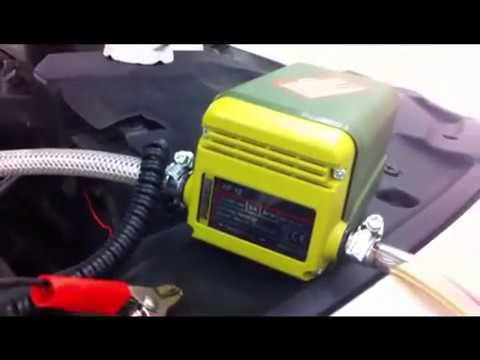 Ölwechselpumpe Proxon AP 12 : Erster Test
