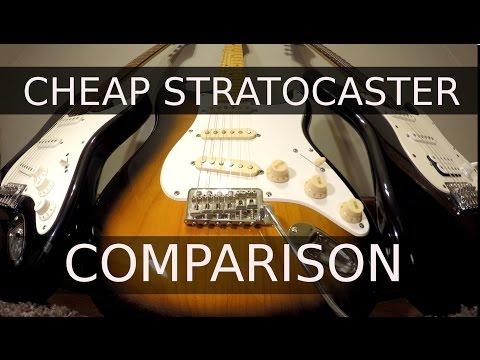 Cheap Stratocaster Comparison - Squier Guitar Shootout!