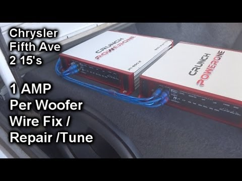 Chrysler Fifth Ave Sound System Repair – 2 15's – 2 Amplifiers (1 Per Subwoofer)