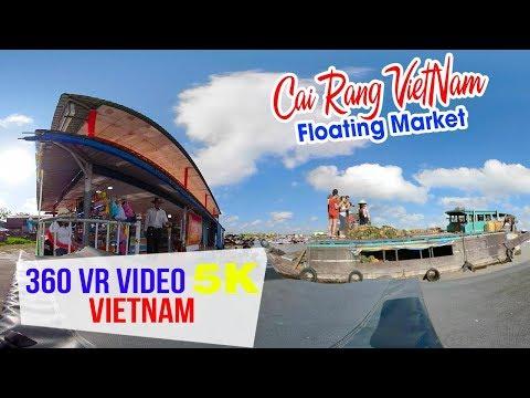 360 VR VIDEO 5K ▶ Chợ nổi Cái Răng | DU LỊCH CẦN THƠ - Thời lượng: 17 phút.