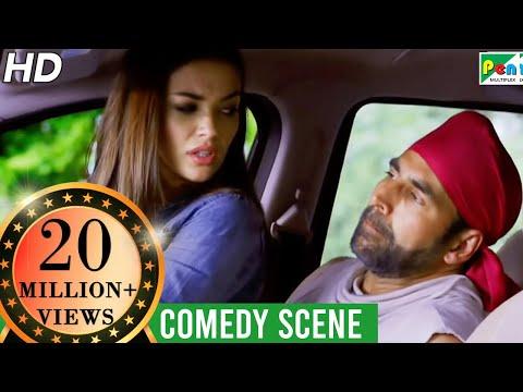 एमी जैक्सन - अक्षय कुमार Funny Car Chase Scene | Singh Is Bliing | Lara Dutta, Akshay Kumar, Amy