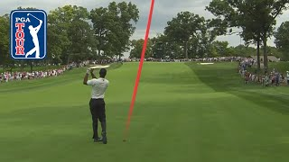 Tiger Woods' best shot trails at BMW Championship 2019 by PGA TOUR