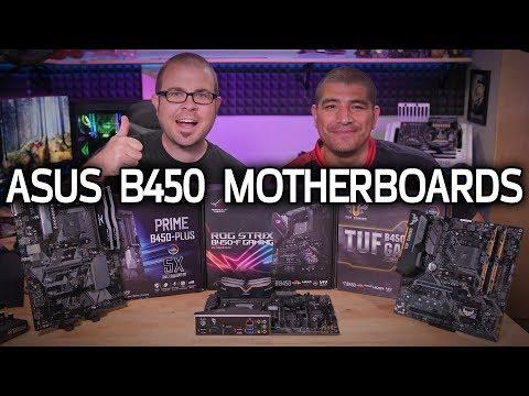 AFFORDABLE ASUS B450 Motherboards (with J.J.)! Prime, Strix & TUF