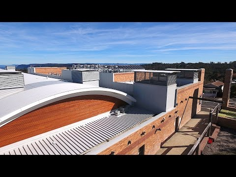 The Blue Mountains Cultural Centre above and INSIDE by Drone!