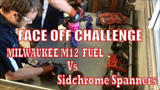 """We Put Milwaukee's M12 Fuel 3/8"""" Dr Impact Wrench up against Sidchrome's tried and tested ROE spanners to show you the productivity & efficiency that can be achieved with Milwaukee's M12 system."""