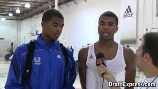 Aaron & Andrew Harrison DraftExpress 2011 adidas Nations Interview & Practice Footage
