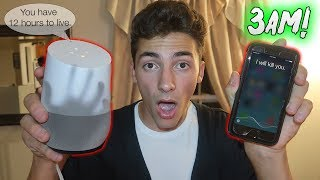 DO NOT TALK TO SIRI AT 3 AM or 3:00 AM HAHAHA DONT DO ANYTHING AT 3AM DONT USE GOOGLE HOME DONT EVEN BREATH. Jk hope you guys enjoyed 😊Support me for 100% FREE! http://gawkbox.com/mikeymanfs😃 SUBSCRIBE ► http://bit.ly/JOINTHELOCALS ★ PREVIOUS VIDEO ►https://www.youtube.com/watch?v=hECXRRgcB3UMy second channel! https://www.youtube.com/channel/UC1FJGtvuzxU7Nq_mYiwxBsw★ TURN ON MY POST NOTIFICATIONS FOR SHOUTOUTS IN MY VLOG★---------------★FOLLOW MY SOCIAL MEDIA► (pls :)★MY INSTAGRAM► (@Mikeymanfs) http://instagram.com/mikeymanfsMY TWITTER► @Mikeymanfs) http://twitter.com/mikeymanfsMY FACEBOOK► https://www.facebook.com/mikeymanfsMY SNAPCHAT► mikeymanfss---------------★PO BOX!★Mike ManfrePO Box 25Bayville NJ 08721---------------★How to get a SHOUTOUT!★-Be SUBSCRIBED to my YouTube channel.-Take a screenshot of my page.-Post it on your Instagram.-Hashtag #MikeyManfs and tag me (@MikeyManfs) in the photo.----------------Outro music = Another Day in Paradise https://soundcloud.com/quinnxcii-----------------Ademir:https://www.youtube.com/channel/UCp5Lou0WVg28V5LhFt-rv2Q-----------------★A little about me★Hey Guys! Mikey Manfs here! A little about myself, I make awesome 24 Hour Challenge and Overnight Challenge videos! As well as hilarious and funny Walmart videos, 3 AM challenges! You want to see the funniest pranks on youtube? Hit that subscribe button! Really interesting and funny vlogs as well!