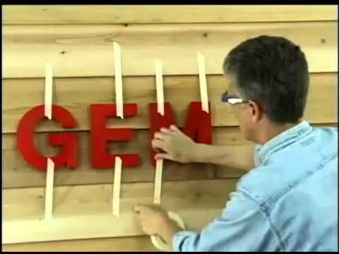 Installing 3D Sign Letters on an Uneven Surface-2:27min