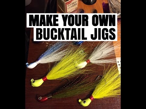 HOW TO TIE BUCKTAIL JIGS & PAINT JIG HEADS