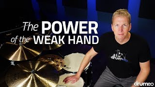 De-stupify your weak hand:►https://www.Drumeo.com/destupefying-your-weak-hand/Many drummers often underestimate how much musical value their weak hand can apply to their playing. Most of us have our weak hand mainly on the snare drum, so I'm going to play along to some music and only change what my weak hand is doing. I run through seven ghost note patterns that you can download the sheet music for right here!►http://www.drumeo.com/blog/develop-your-weak-hand/Follow us!►Facebook: http://www.facebook.com/drumeo/►Instagram: http://www.instagram.com/drumeoofficial/