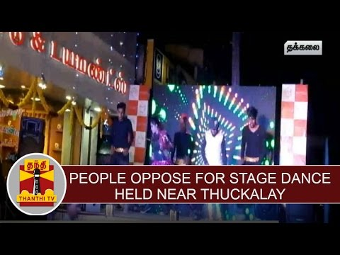 People-Oppose-for-stage-Dance-held-near-Thuckalay-Thanthi-TV