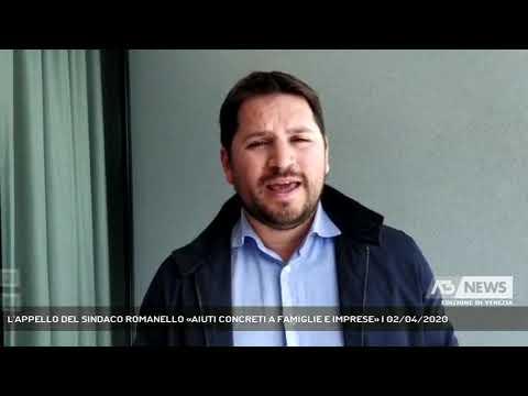 L'APPELLO DEL SINDACO ROMANELLO «AIUTI CONCRETI A FAMIGLIE E IMPRESE» | 02/04/2020