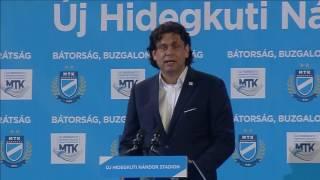 Dr. Deutsch Tamás beszéde az MTK stadionavatón – 2016. október 15.