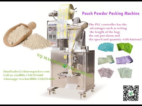 vertical powder packing machine sachet PET PVC film form fill seal packer dosing equipment