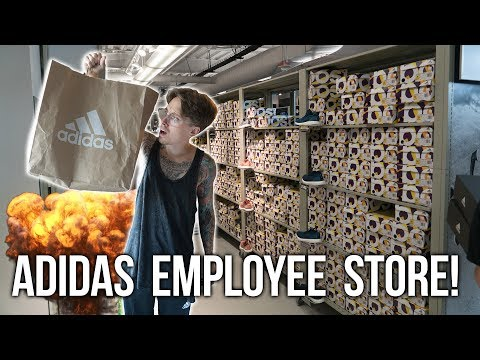 SHOPPING AT THE ADIDAS EMPLOYEE STORE!
