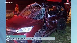 Jaú: três pessoas morrem na Comandante João Ribeiro de Barros