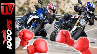 10. BMW R 1200 RS vs R 1200 R Test | Boxer Vergleich 2016 - BMW Motorrad Test-Camp Almeria 2016