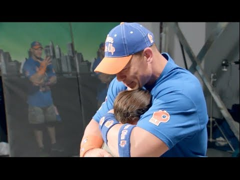 John Cena crying ,  John Cena is reading his messages