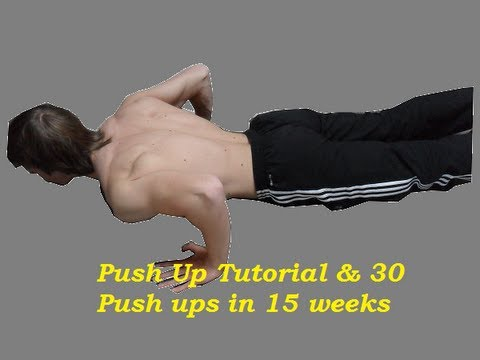 Push up Tutorial & 30 Push ups in 15 Weeks Routine