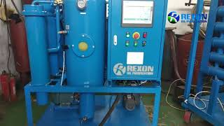 High Vacuum Lube Oil Purifier 600LPH Oil Water Separator youtube video