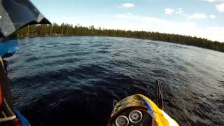 8. skidoo mxz 600 sdi xrs watercross sled first test run