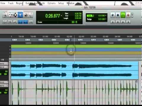 PRO TOOLS 8 / 9 How to Work with Audio Like Midi, ELASTIC AUDIO, Quantize Audio, Transpose Audio
