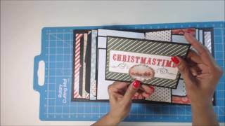 Mr. Benjamin Christmas Album, using Kathy King from Paper Phenomenon  tutorial.