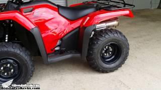 7. 2016 Honda FourTrax Rancher 420 2x4 ATV Walk-Around Video   TRX420TM1G
