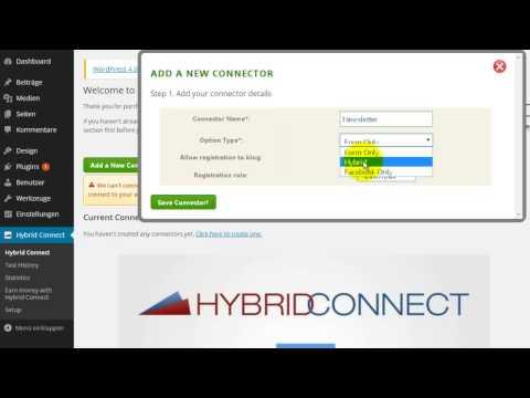 Anleitung Hybrid Connect – Teil 1 Connector erstellen