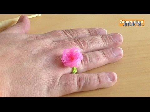 Comment cr er une fleur rainbow loom en fran ais watch the video - Comment faire une fleur en elastique ...