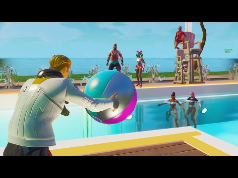 Fortnite Roleplay THE HIGH SCHOOL POOL PARTY! 🎉 (THE COPS CAME!?) #1 (A Fortnite Short Film) {PS5}