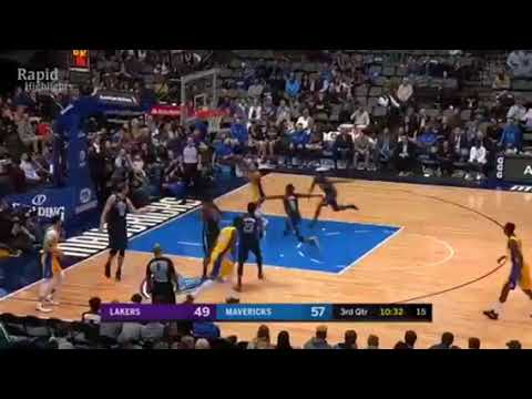 LA Lakers vs Dallas Mavericks Full Game Highlights Jan 13, 2018