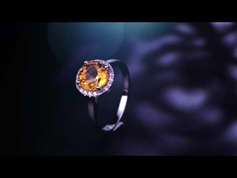 2.5Ct Natural Citrine Rings for Women Gift
