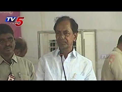 KCR Mahabubnagar Tour | Foundation Stonefor Cogent Glass Industry : TV5 News