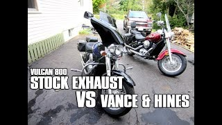 6. Kawasaki Vulcan 800 Stock Exhaust VS Vance & Hines Pipes