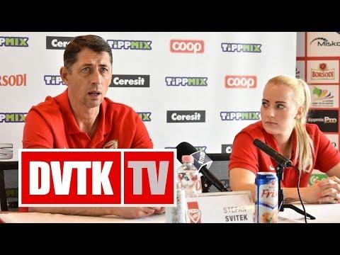 Sajtótájékoztató az Aluinvent DVTK - Carolo Basket mérkőzés előtt