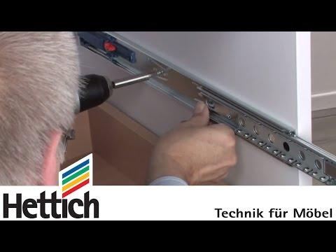 Montaje de correderas de bolas de extracción total: DIY con Hettich