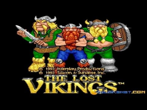 The Lost Vikings gameplay (PC Game, 1992)