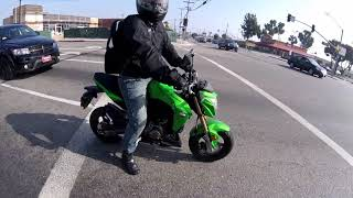 5. Kawasaki z125 california ride with GOKU 2018 Kawasaki z125pro 2017 z125